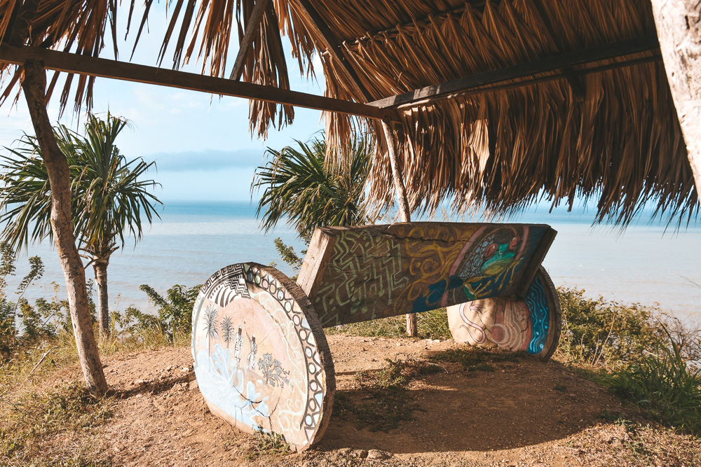 Reisroute Colombia Palomino strand uitzichtpunt