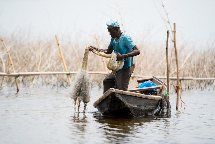 Reizen naar Benin Afrika visser