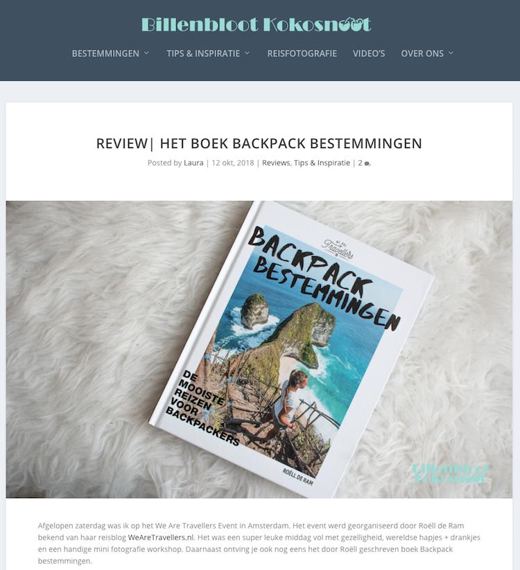 Review BackpackBestemmingen Billenblootkokosnoot
