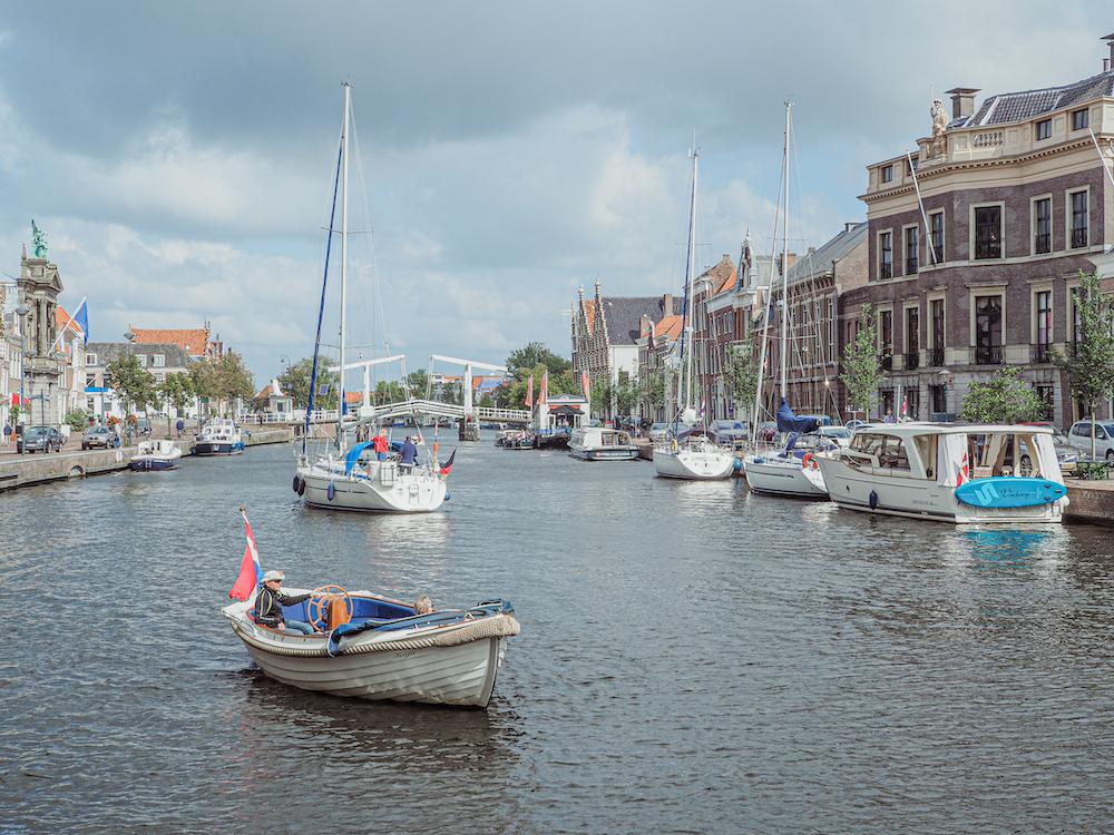 Rivier het Spaarne in Haarlem