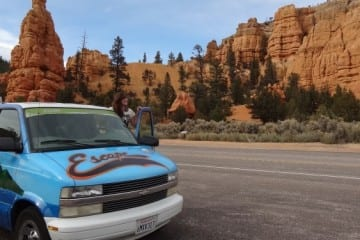 Roadtrip west Amerika Escape Campervan