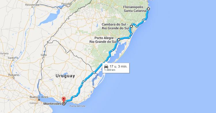 Roadtrip Brazilie Uruguay