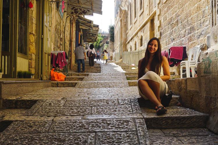 Roadtrip israel jordanie jeruzalem straatje