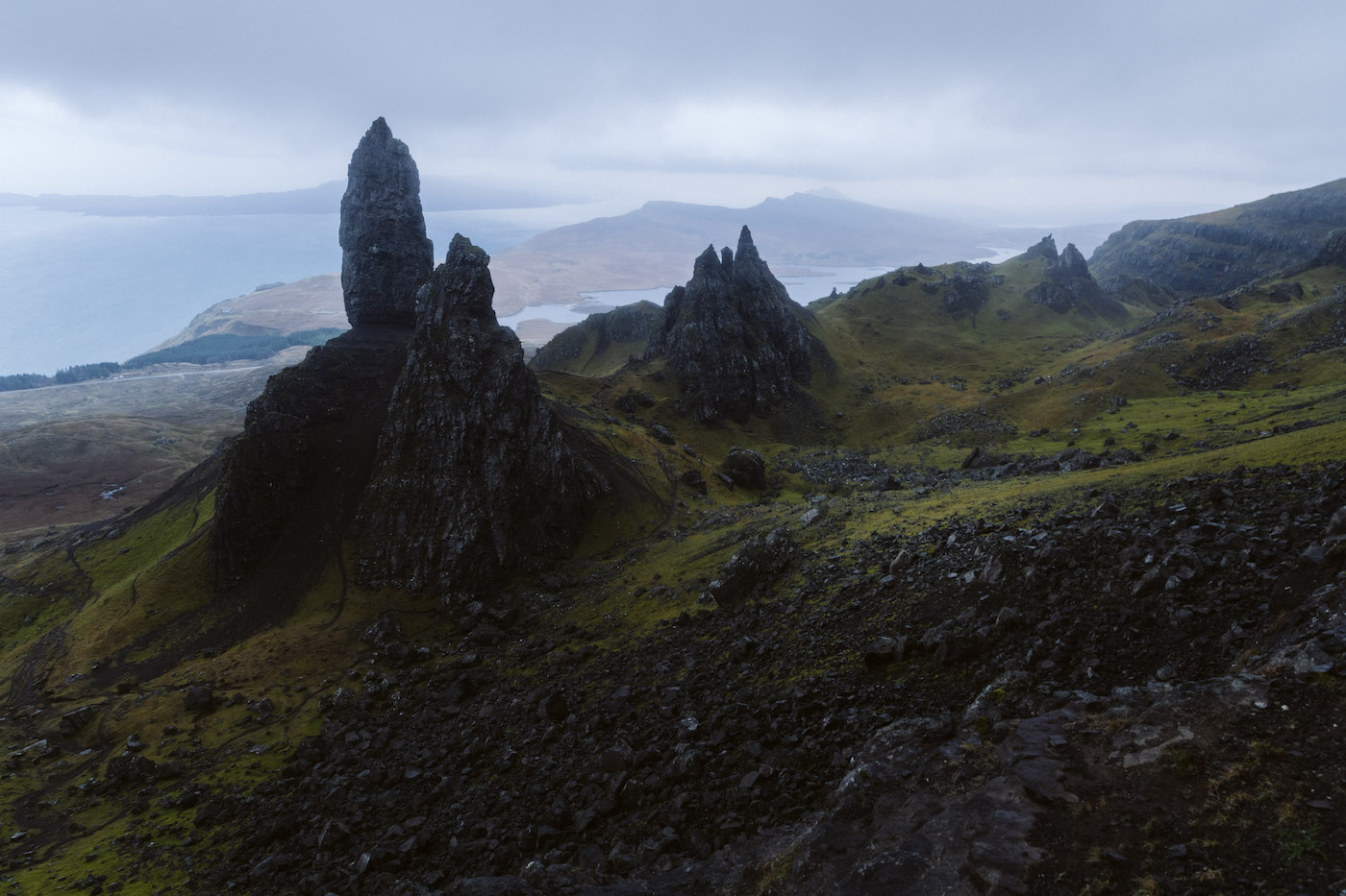 Roadtrip schotland kamperen Old man of Storr