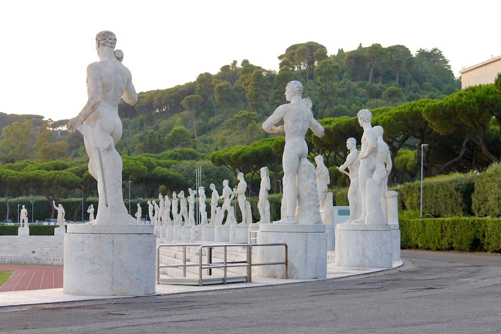 Rome onbekende plekken olympisch stadion