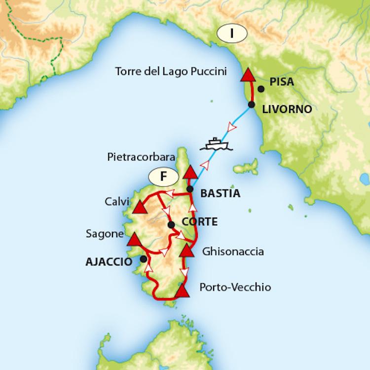 Rondreis Corsica ACSI