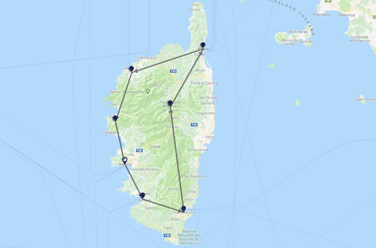 Rondreis Corsica tui