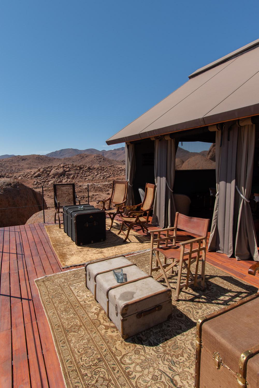 Rondreis Namibie sonop lounge area