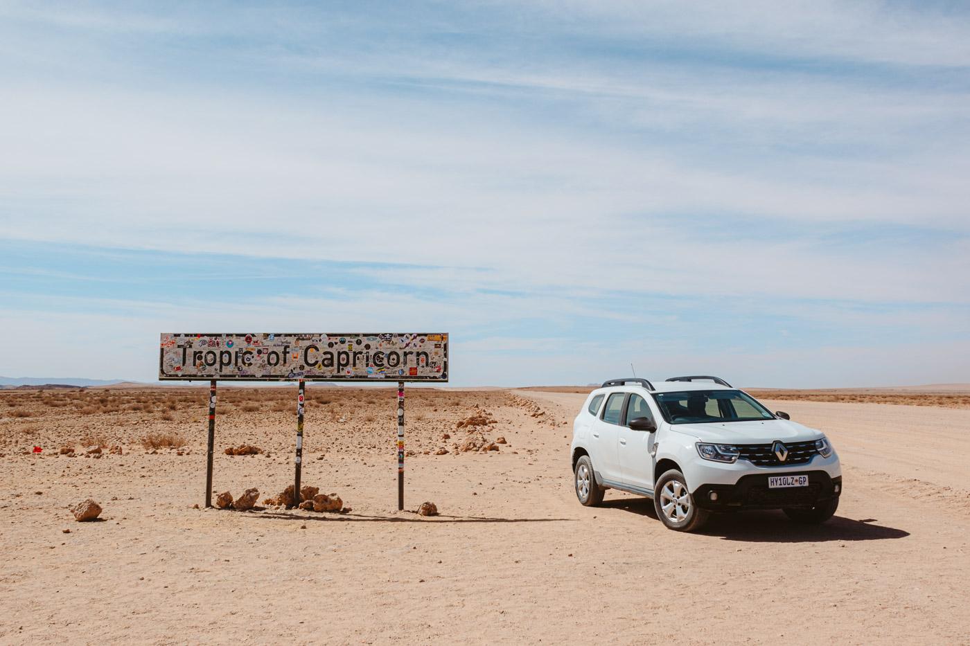 Rondreis Namibie tropic of capricorn