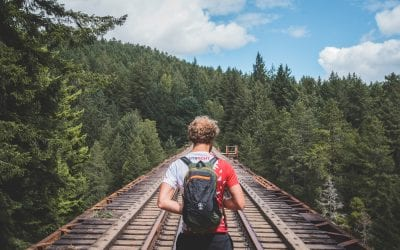 Rondreis Vancouver Island Hike Trestle Bridge Hiking Trail Goldstream Provincial Park