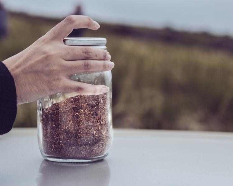 Rooibos tee in een pot cederberg zuid-afrika