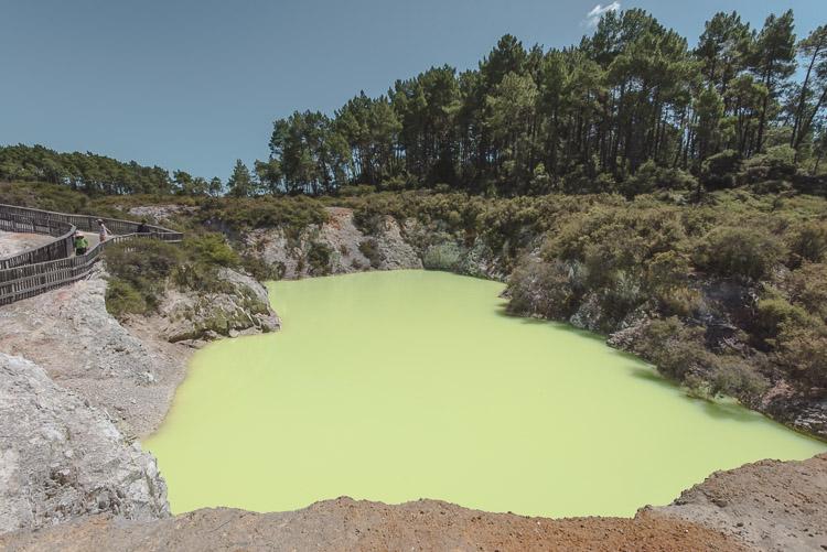 Rotorua in Nieuw Zeeland Devil's Pool