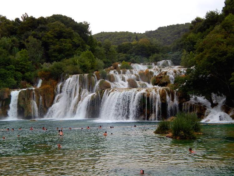 Route Kroatie Krka watervallen