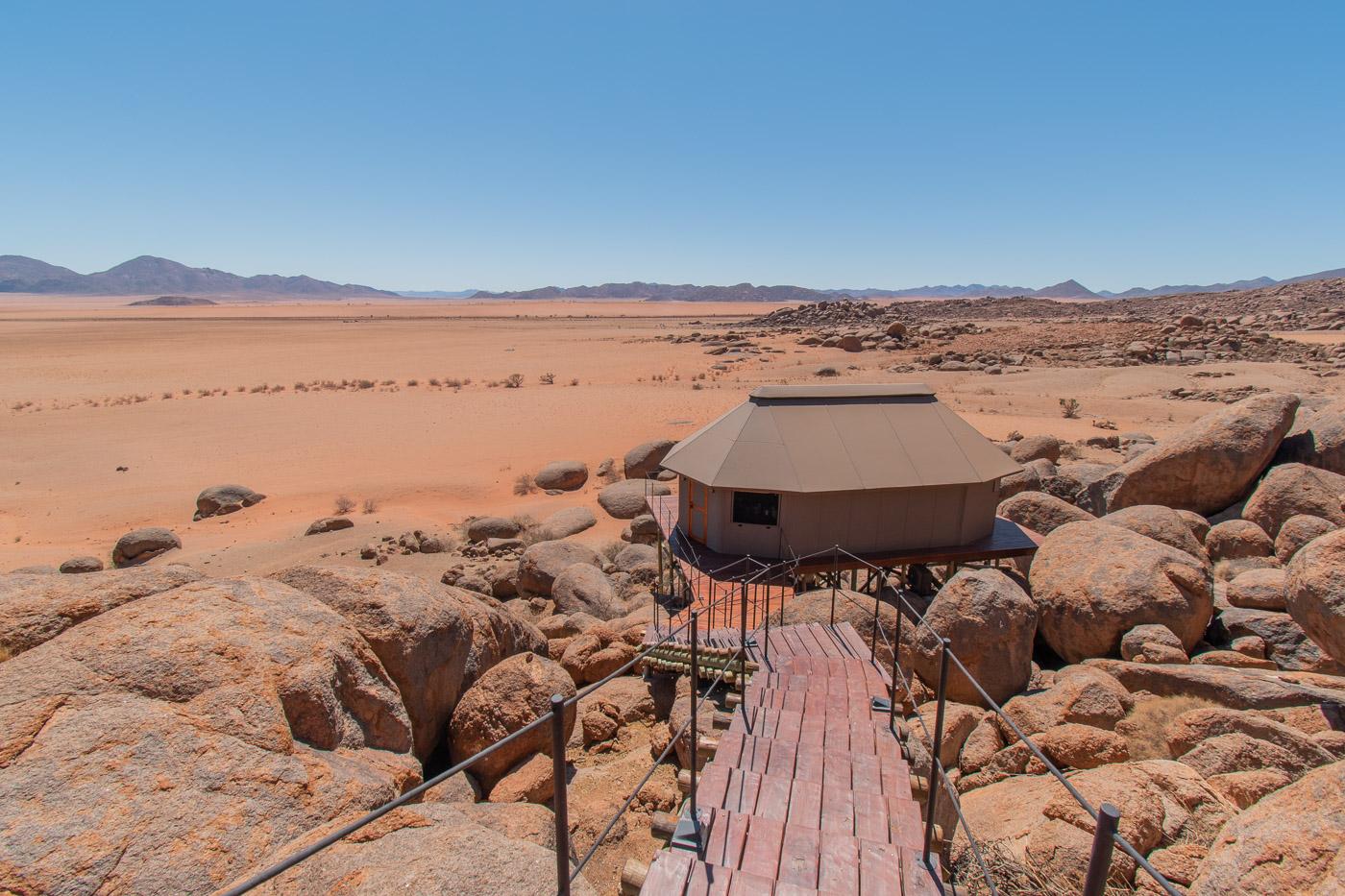 Route Namibie sonop onze tent