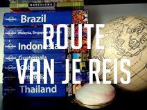 wereldreis route