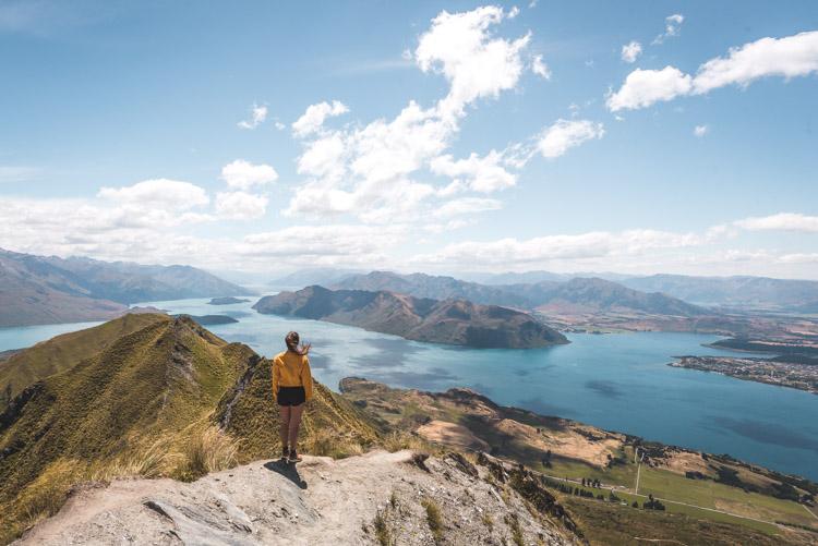 Roys Peak wandeling op zuidereiland in nieuw zeeland