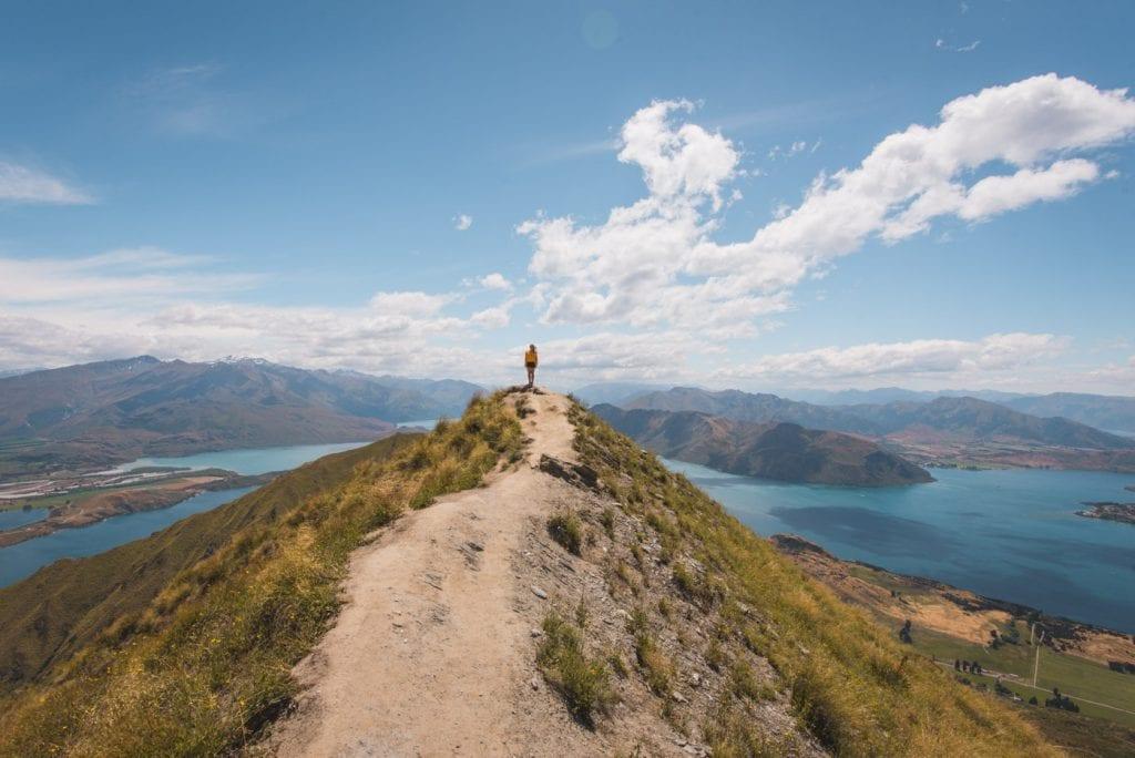 Roys peak wandeling in nieuw zeeland zuidereiland