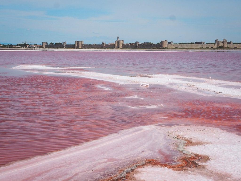 Roze meer in Frankrijk