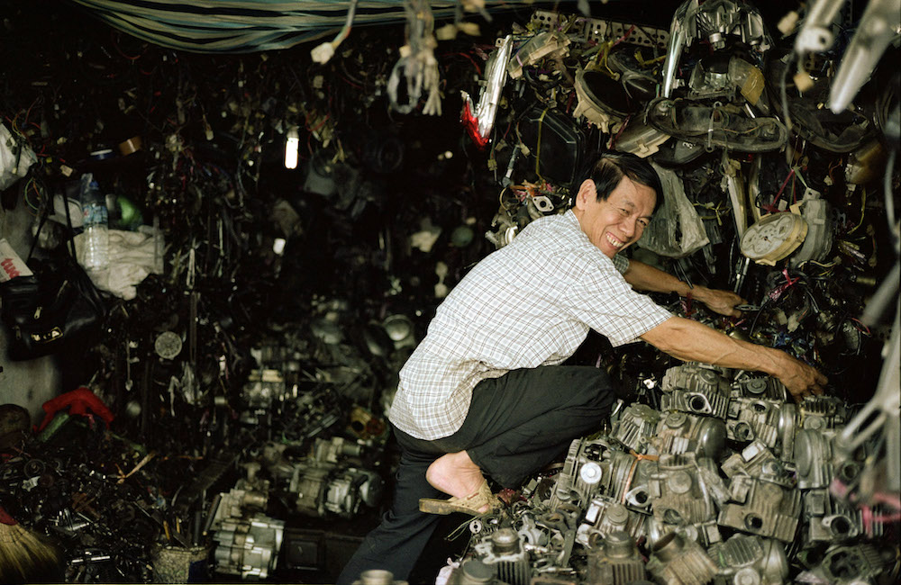 Saigon Vietnam motor Onderdelenhuis