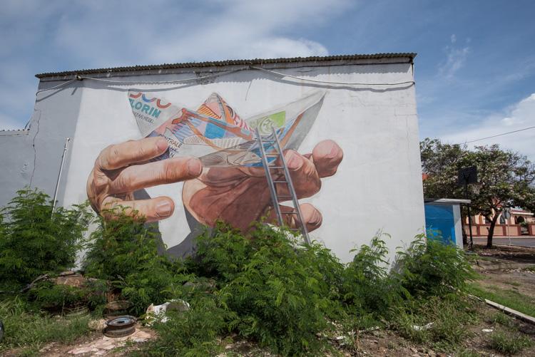 San Nicolas Aruba Street art bootje