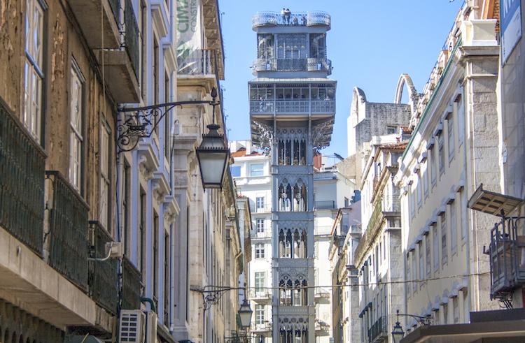 Santa Justa-lift lissabon