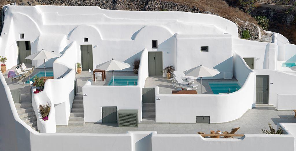 Santorini bijzondere bb aan zee