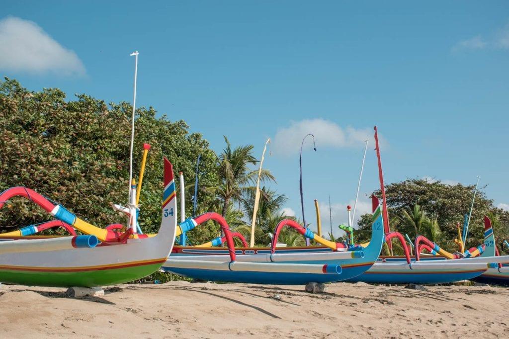 Sanur Bali strand bootjes