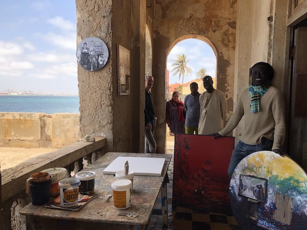 Schilderkunst in Gorée