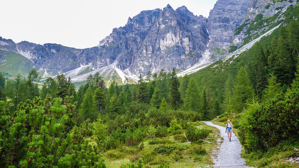 Schlick 2000 wandelroutes tijdens zomervakantie stubaital