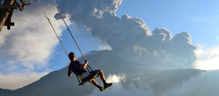 Schommelen swing of death banos ecuador