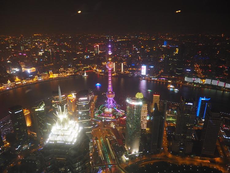 Shanghai tower uitzicht skyline