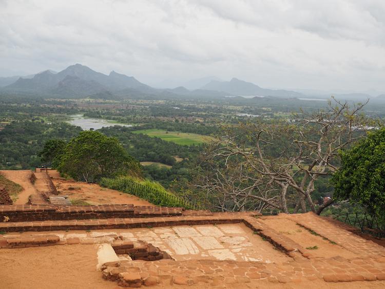 Sigiriya rock sri lanka uitzicht