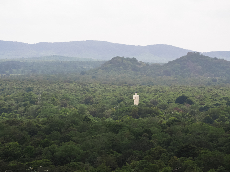 Uitzicht vanaf sigiriya sri lanka