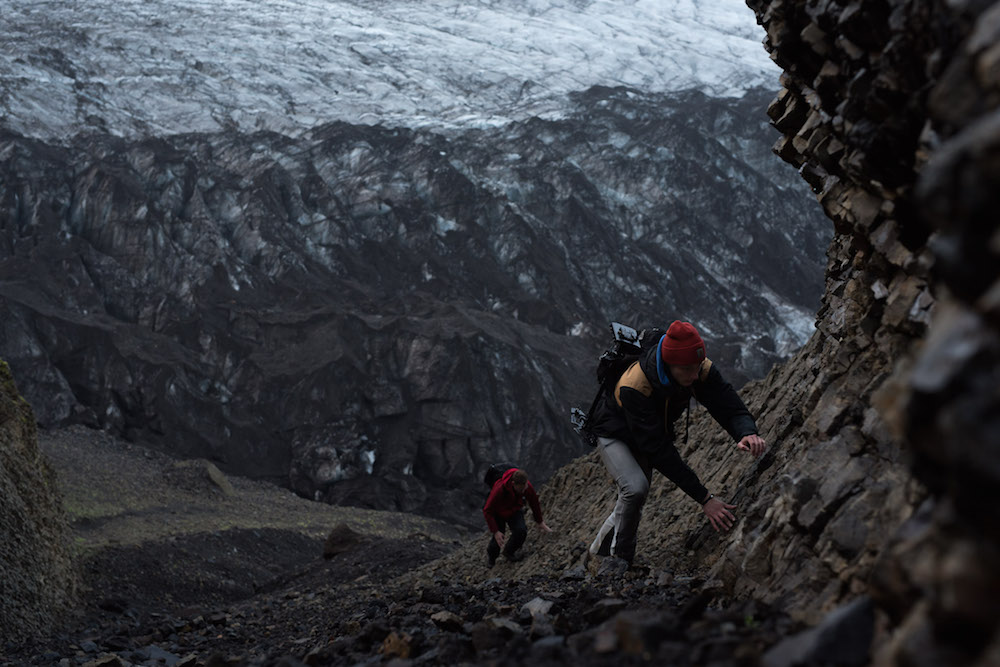 Skaftafell, een uitloper van de Vatnajökull gletsjer ijsland