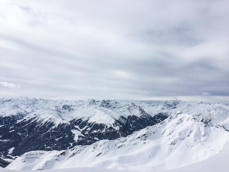 Skien in skigebied montafon