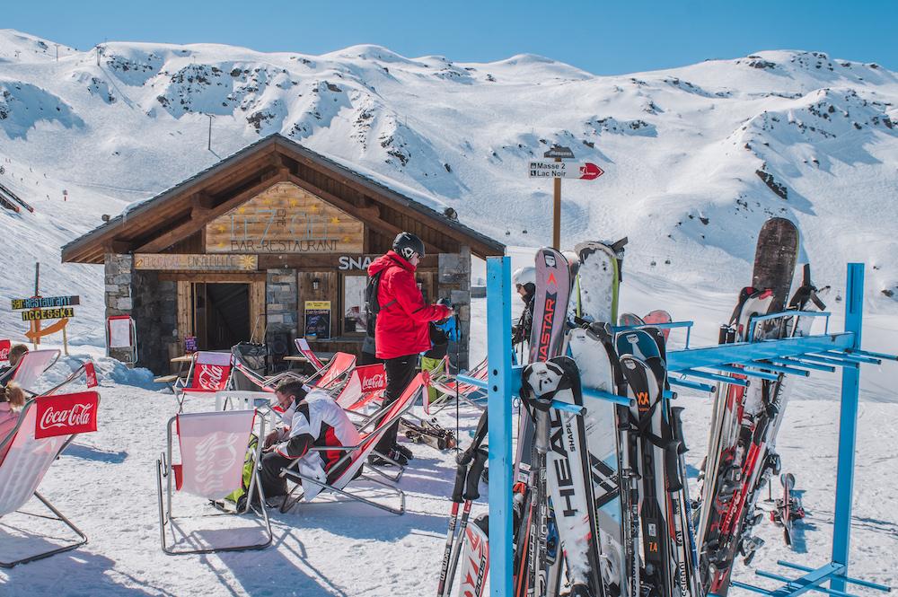 Skien wintersporten les menuires