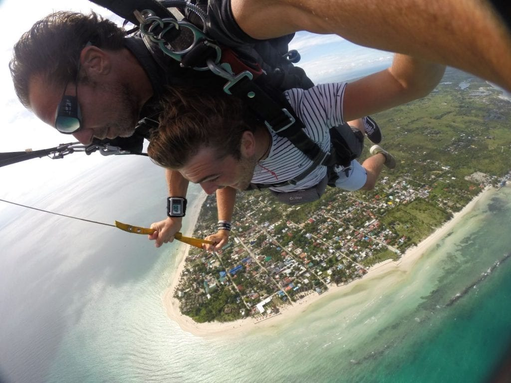 Skydive Cebu boven filipijnen