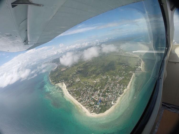 Skydive Cebu filipijnen vanuit de lucht