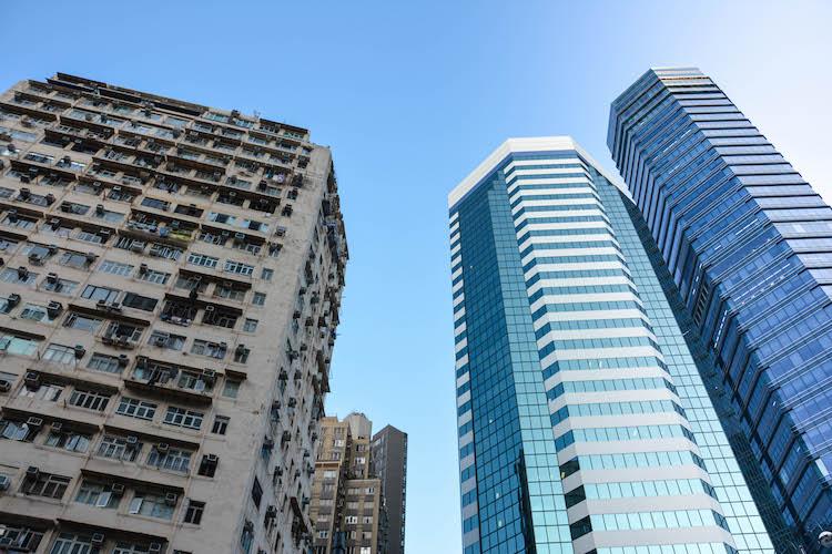 Skyscraper city hong kong china