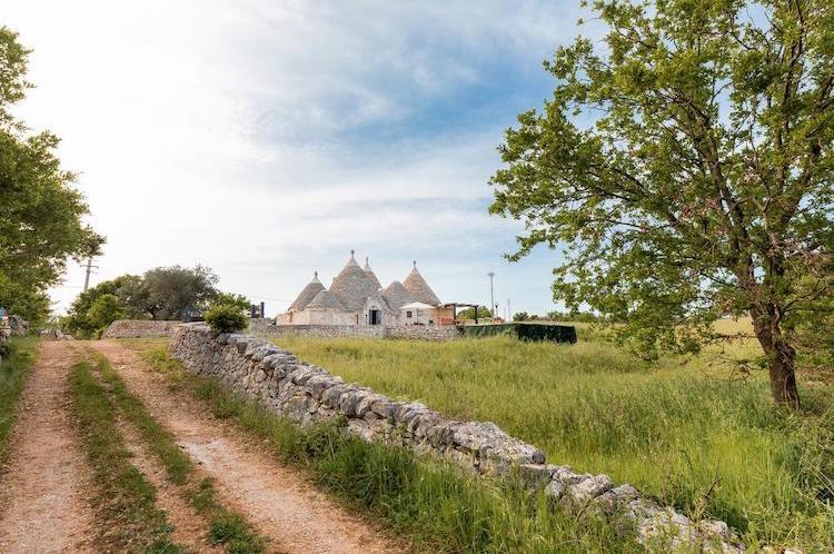 Slapen in Trulli Puglia Trullo Sull'Aia