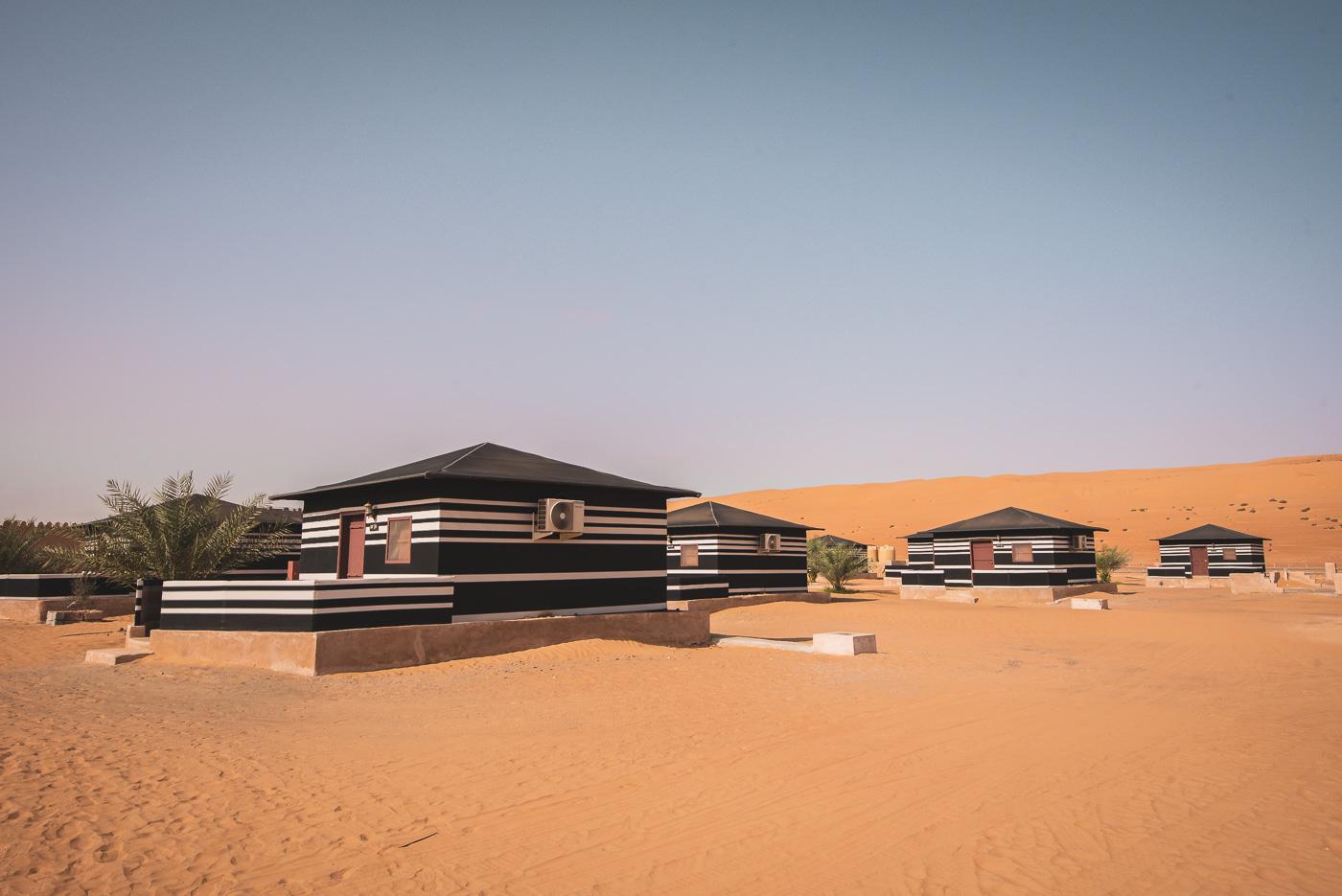 Slapen in de woestijn in Oman_