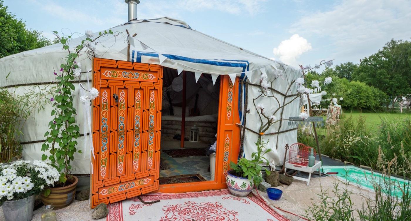 Slapen in een yurt huren nederland