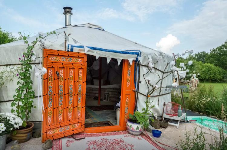 Slapen in een yurt huren