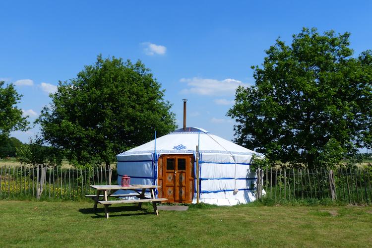 Slapen in een yurt in Nederland