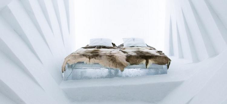 slapen ice hotel zweden