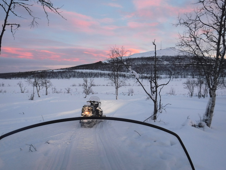 Sneeuwtocht lapland