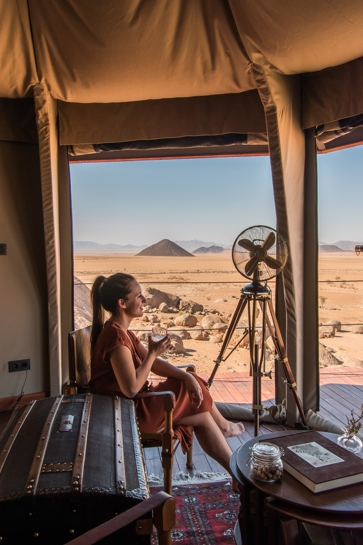 Sonop tent namibie bijzonder overnachten