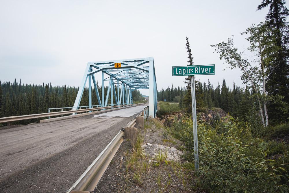 South Canol Road Yukon Lapie River