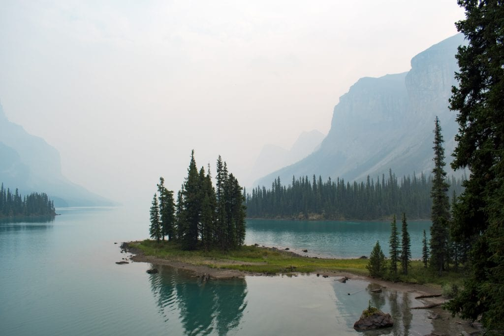 Spirit Island Jasper National Park Canada