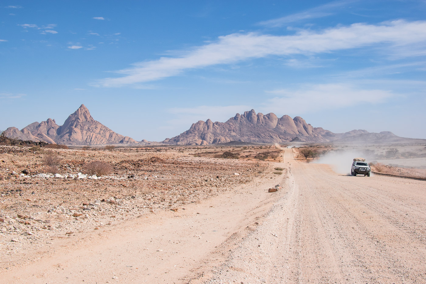 Spitzkoppe Rondreis Namibie weg